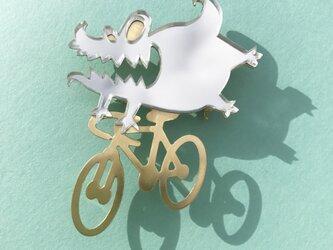 Reflector brooch Etxebarria riding monster -Silver & Gold-の画像