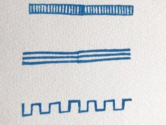 ラインの消しゴムはんこ⑥の画像