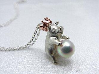 【受注制作】豚に真珠ネックレスの画像