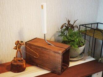 コロコロBOX・ダークブラウン(粘着カーペットクリーナー用木製BOX)の画像