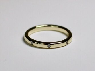 Eight point ring / K10 YG .PG.WG. Diamond.の画像