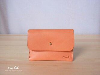 名刺入れ カードケース イタリアレザー (オレンジ)の画像