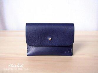名刺入れ カードケース イタリアレザー (ネイビーブルー)藍の画像