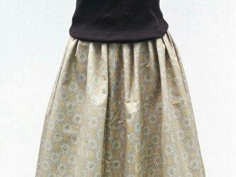 大島紬リメイクスカート の画像