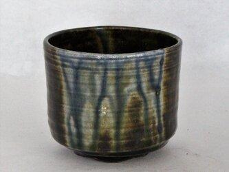 青 乱れ流れ 抹茶碗の画像