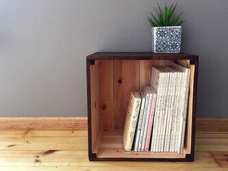木箱de収納02 パイン材 午前中ご注文で翌々日出荷可能/りんご箱の画像