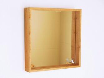 木製 はこ鏡 桜材7の画像