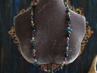 アラビアンナイトカラーショートネックレスの画像