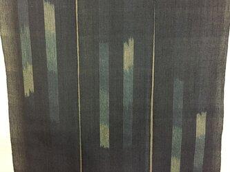 手織り暖簾 絣デザイン 本藍染め N-003の画像