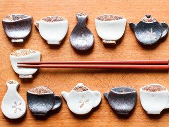 うつわの箸置き(5個セット)の画像