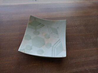 四方皿(大) 雪紋-2の画像