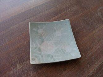 四方皿(小) 雪紋-3の画像