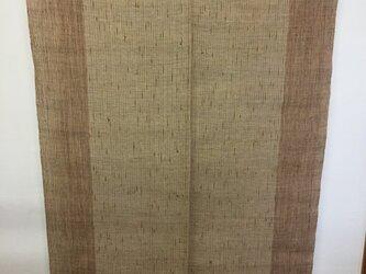 手織り暖簾 柿渋・ヨモギ染め N-007の画像