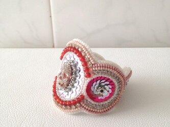 【ビーズ刺繍】スカルのスモーキースウィートブレスレットの画像