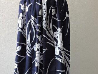 浴衣リメイク:浴衣のギャザースカート(あやめ)の画像