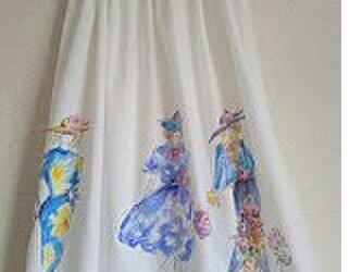 オーダーメイドふわふわコットンドレス ファッションイラストの画像