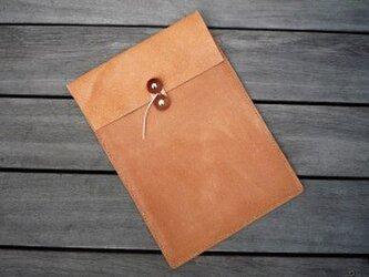 床革のマニラ封筒 A4ファイル対応の画像