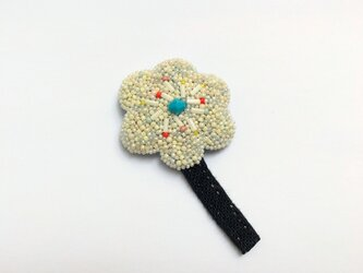 茎つきお花ブローチ1の画像