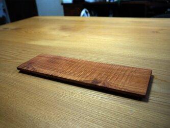 木のしのぎ平皿 チャンチンの画像