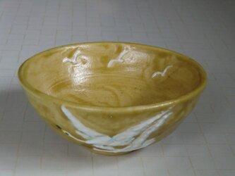 黄瀬戸の飯茶碗・白鳥の画像