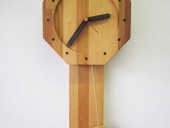 なつかしい時計 寄木振り子掛時計の画像