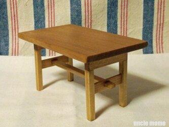 ドール用長テーブル(色:オーク) 1/12ミニチュア家具の画像