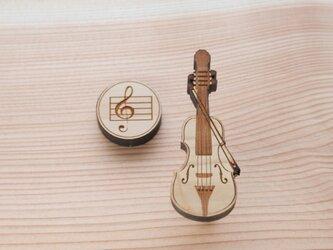 ブローチ music (チェロ) Lサイズの画像