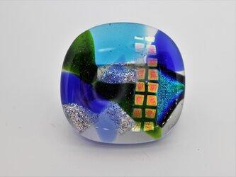 ちゅら珠*ガラスの帯留めの画像