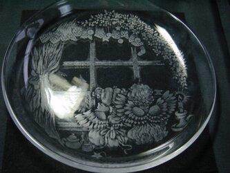グラスリッツエン 丸皿  『兄妹の天使』の画像