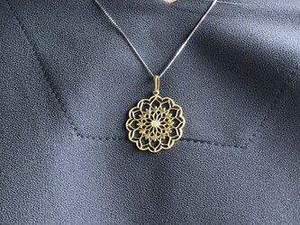 【受注製作】18金 透かしペンダントヘッド ダイヤモンド入りの画像