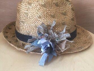 手織りコサージュの画像