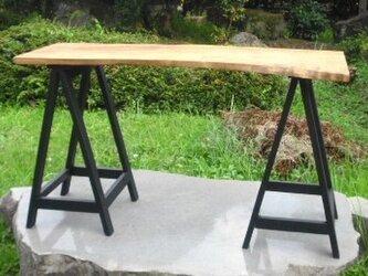 トチの木のカフェテーブル(ディスプレイテーブル)の画像