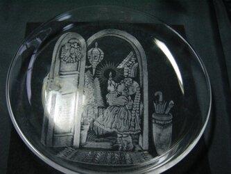 グラスリッツエン  丸皿  『ドアの灯り』の画像