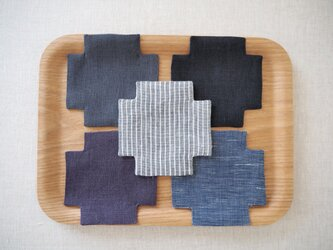 リトアニアリネン クロスコースター5枚セット no.001の画像