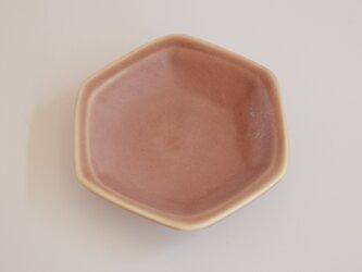 豆皿 六角 あずき色の画像