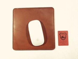 革のマウスパッド brownieの画像