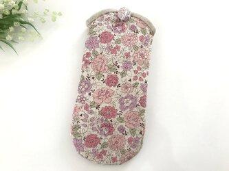 花柄メガネケース ピンク×ラベンダーの画像