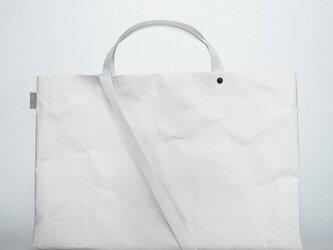 【N/no × E/zel.】SOME WAY LIGHT LESSON BAG_P6(B4)_PP/WHITEの画像