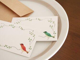 小鳥のメッセージカードの画像