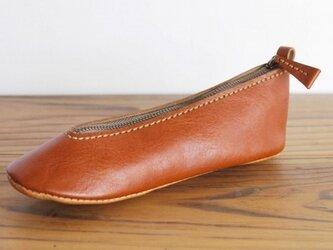 靴型ペンケース BR×BG #1-1 (イタリアンレザー)の画像