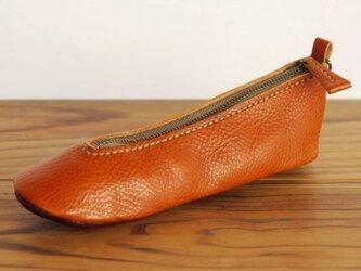 靴型ペンケース BR×DBR #1-2 (イタリアンレザー)の画像