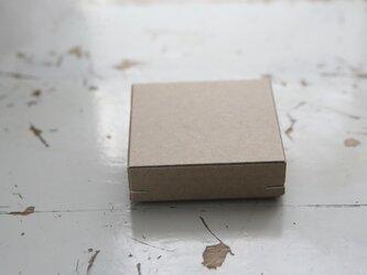 角留め箱 クラフトボール ホチキス銀色 【1箱】 60×60×20mmの画像