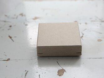 角留め箱 クラフトボール ホチキス銅色 【1箱】 60×60×20mmの画像