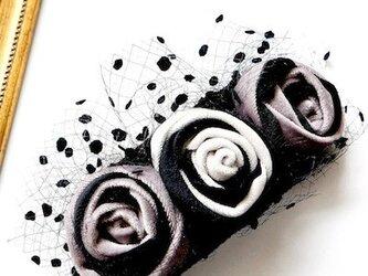ベルベットローズヘッドドレス/ blackの画像