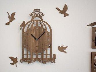 【ウォールクロック】BIRD HOUSE - ライトブラウンの画像