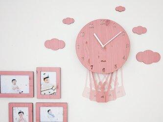 【ウォールクロック】SKY BALLOON - ピンクの画像