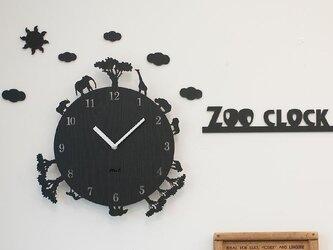 【ウォールクロック】ZOO CLOCK - ブラックの画像