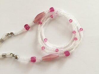 【創業祭】ピンクが可愛いメガネチェーンの画像
