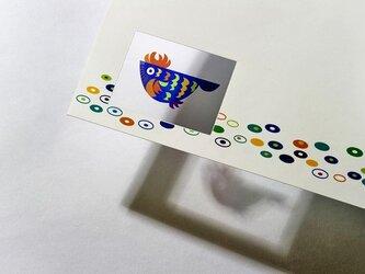 シースルーカード 選べる2枚セット➌タマゴフィッシュ ブルーの画像