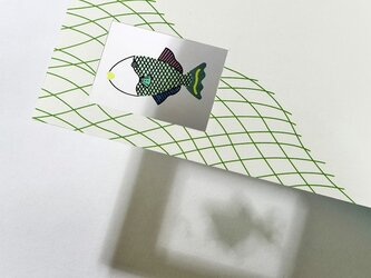 シースルーカード 選べる2枚セット ➓あみもんがらの画像
